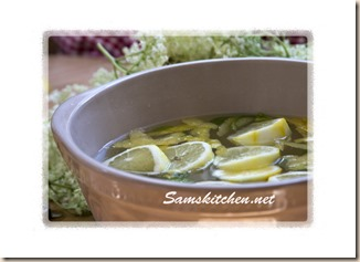 Elderflower citrus in bowl