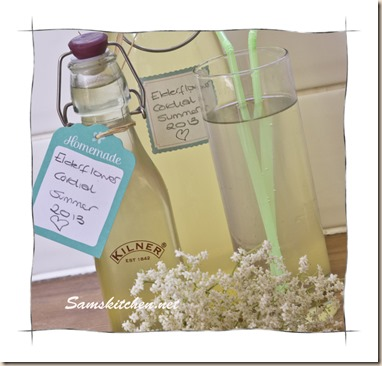 Elderflower cordial bottles glass