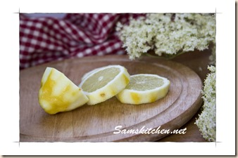 Elderflower cut lemon
