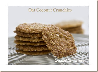 Oat coconut crunchies stack