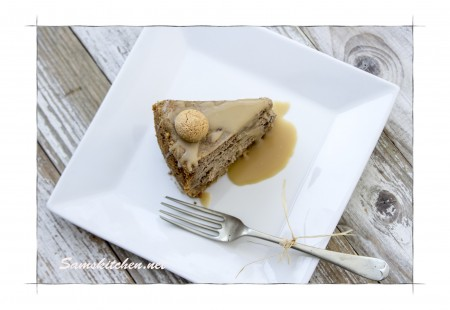 Amaretto cheesecake above