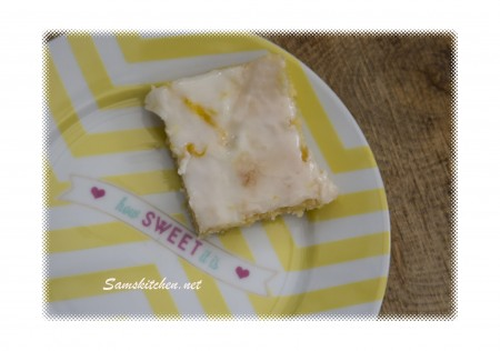 lemon white choc brownie