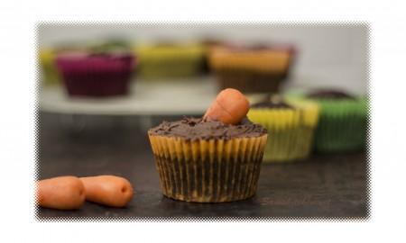 Choc carrot cupcakes 7