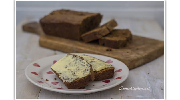 Malt Loaf buttered