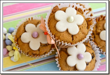 easter cupcakes above