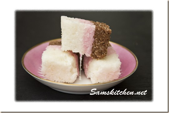 coconut ice plate
