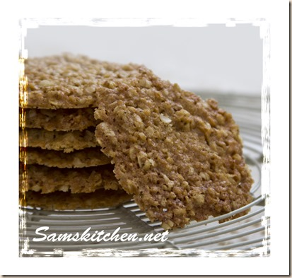 Oat coconut crunchies close stack