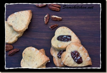 Pecan and maple shortbread above