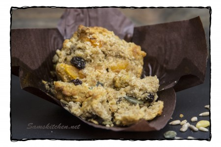 Fruit & Seed muffin open