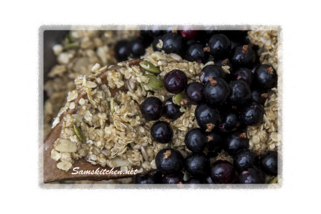 Blackcurrant seed bars mix